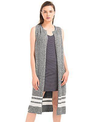 GAP Stripe Long Sweater Vest