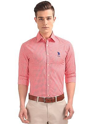 U.S. Polo Assn. Button Down Printed Shirt
