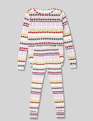 GAP Girls Fair Isle Sleep Set