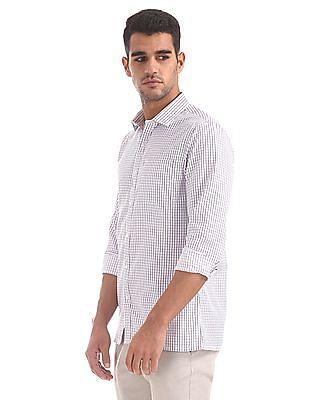 Excalibur Spread Collar Check Shirt
