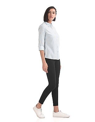 Flying Machine Women Betty Skinny Fit High Rise Jeggings