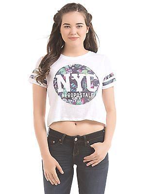 Aeropostale Printed Cropped T-Shirt