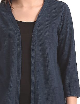 Cherokee Patterned Knit Open Front Shrug