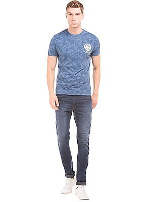 U.S. Polo Assn. Denim Co. Leaf Print Muscle Fit T-Shirt