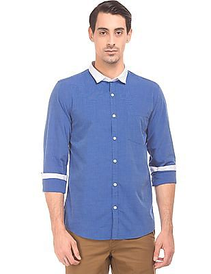 Ruggers Contrast Collar Regular Fit Shirt