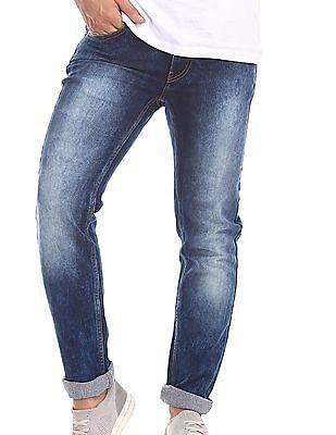 Flying Machine Blue Jackson Skinny Fit Low Waist Jeans