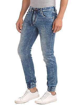 Flying Machine Washed Jogger Jeans