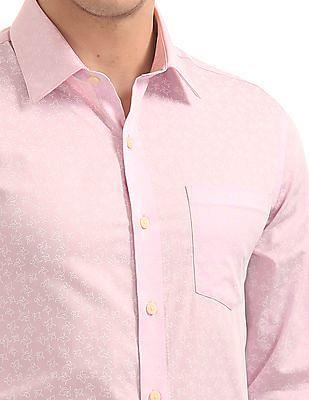 Arrow French Placket Printed Shirt