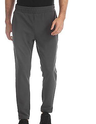 Flying Machine Grey Mid Rise Active Track Pants