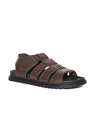 U.S. Polo Assn. Contrast Sole Adjustable Strap Sandals