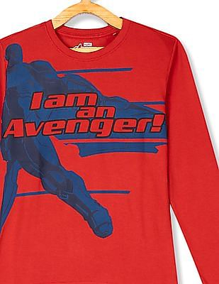 Colt Boys Long Sleeve Avengers Graphic T-Shirt