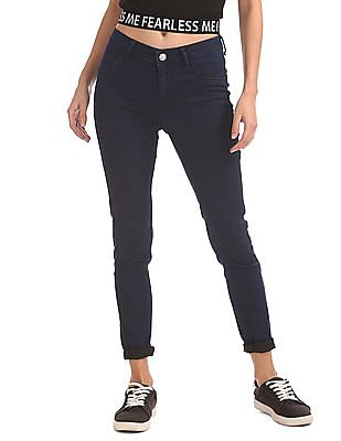 Flying Machine Women Mid Rise Rinsed Jeans