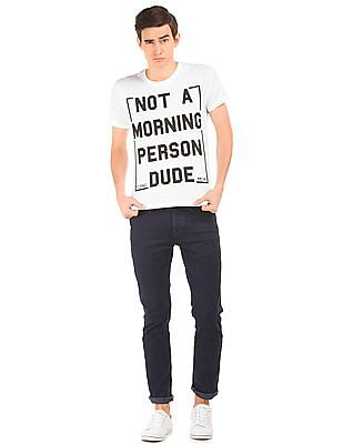 Flying Machine Text Print Regular Fit Shirt