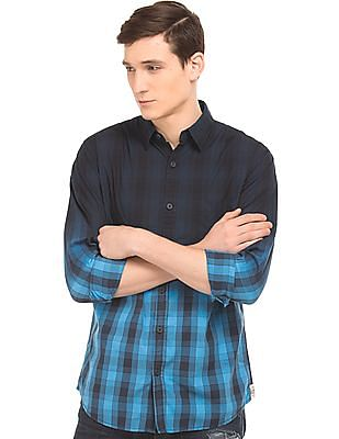 Cherokee Ombre Dyed Check Shirt