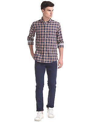Nautica Long Sleeve Wear To Work Medium Plaid Shirt