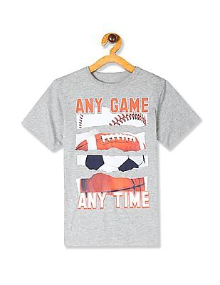 The Children's Place Boys Grey Sports Graphic Tee