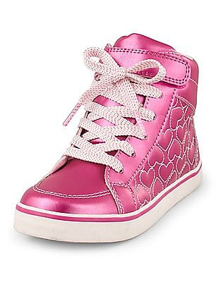The Children's Place Girls Heart Quilted Sneakers