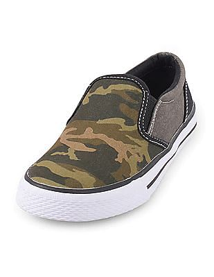 The Children's Place Baby Boy Print Slip On Shoes