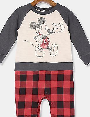 GAP Baby Beige Disney Mickey Mouse 2-in-1 One-Piece