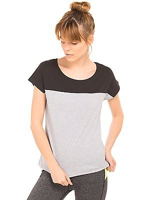 Cherokee Colour Block Heathered Top