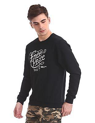 Flying Machine Slim Fit Printed Sweatshirt