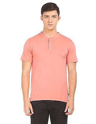 Nautica Solid Slim Fit Henley T-Shirt
