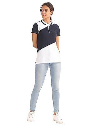 Nautica Heritage Short Sleeve Striped Polo