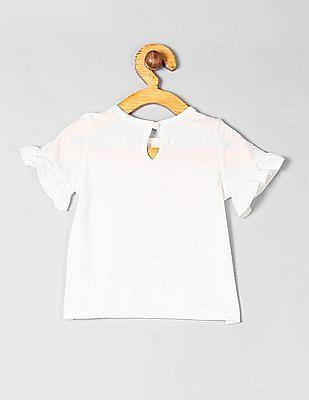 GAP Baby Ruffle Sleeve Brand Logo Top