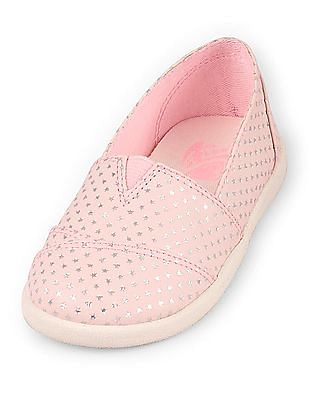 The Children's Place Baby Pink Coastal Slip-On Shoes
