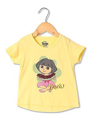 Colt Girls Round Neck Printed T-Shirt