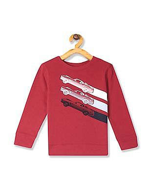 The Children's Place Red Baby And Toddler Boy Active Long Sleeve Graphic French Terry Sweatshirt