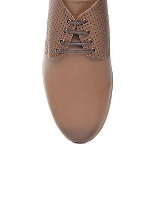 Arrow Sports Perforated Leather Derby Shoes