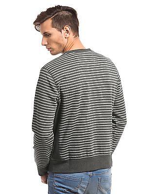 Nautica Stripe Crew Sweatshirt