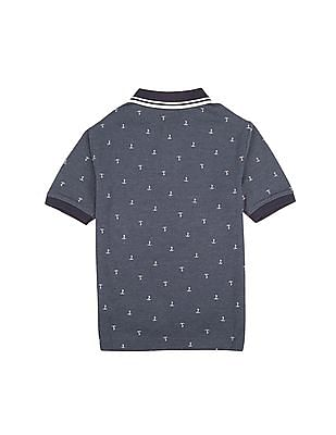 Nautica Kids Boys Anchor Print Polo Shirt