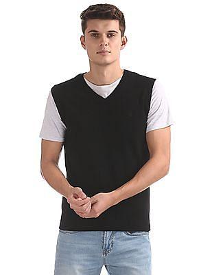 Izod V-Neck Sleeveless Sweater