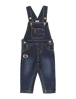 Donuts Boys Stone Washed Denim Dungarees