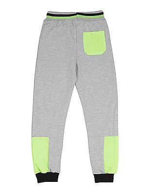 Cherokee Boys Mesh Panel Colour Block Joggers