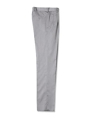 Arrow Smart Fit Pleated Front Trousers