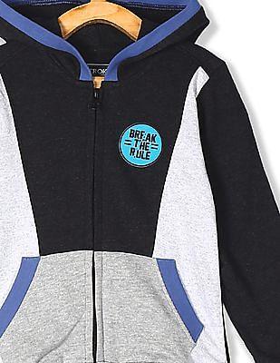 Cherokee Grey Boys Cut And Sew Panel Hooded Sweatshirt