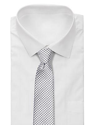 Arrow Check Pattern Tie