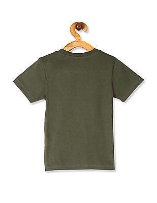 Cherokee Green Boys V-Neck Printed T-Shirt