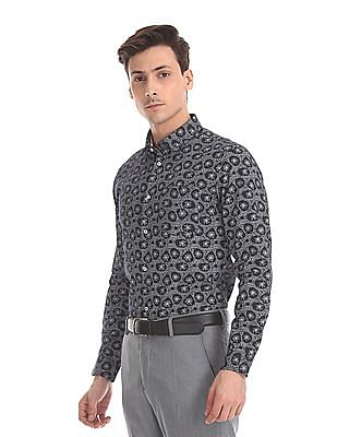Arrow Newyork Skinny Fit Printed Shirt