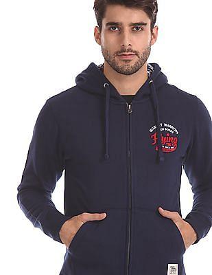 Flying Machine Solid Hooded Sweatshirt