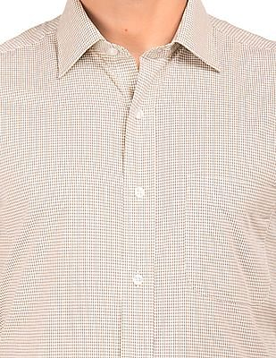 Arrow Regular Fit Patterned Weave Check Shirt