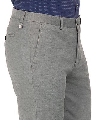 Arrow Newyork Flat Front Super Slim Fit Trousers