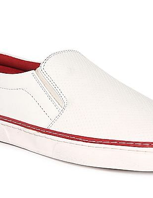 Ruggers Perforated Slip On Shoes