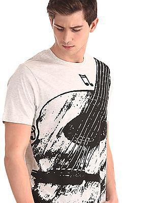 Colt Grey Crew Neck Heathered T-Shirt
