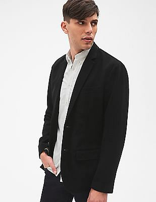 GAP Men Black Moleskin Blazer