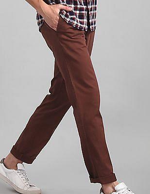 GAP Brown Vintage Wash Khakis In Slim Fit With GapFlex
