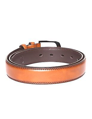 Colt Brown Metallic Buckle Tonal Stitch Belt